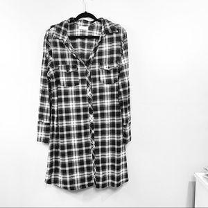 Plaid Long Flannel Dress | 114